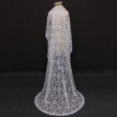 2017 Real Photos Romantic Flower Lace 2 Meters One Layer Wedding Veil with Comb Beautiful Bridal Veil Velos de Novia