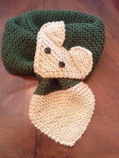 KIDS Fox Scarf  Hand Knit Scarf / neck warmer by QuiltNCrochet