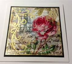Handmade card by Lisa B. Imagination Crafts' rice papers, Textile Starlights paint,  Fashion Textile Paint Sprays, stencils.
