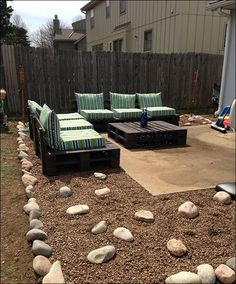 Garden Furniture Out Of Pallets this would be great with a firepit in the middle | furniture