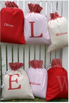 Making 3 this week!!  Design Dazzle » Santa Sacks: Simplify Christmas With A Wonderful Family Tradition!