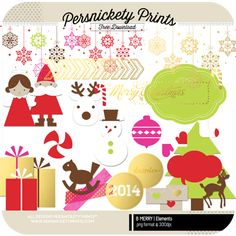 FREE Christmas Digital Kit from Persnickety Prints!