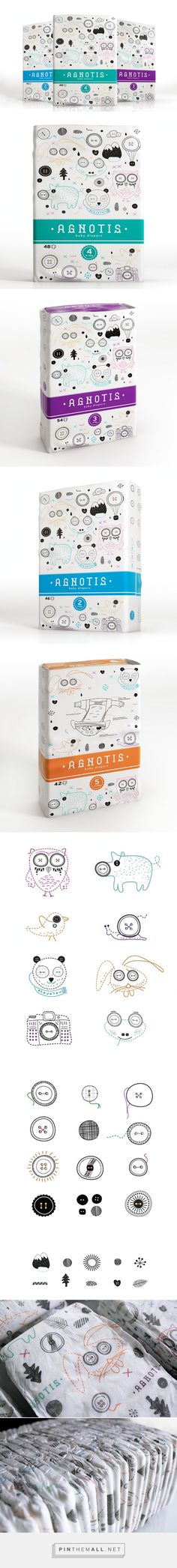 Agnotis on Packaging of the World is the cutest diaper packaging you'll ever see curated by Packaging Diva PD