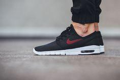 "Nike SB Stefan Janoski Max ""Black/Team Red"" - EU Kicks: Sneaker Magazine"