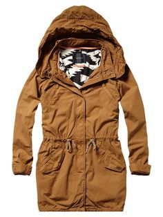 Parka with printed tribal lining - Scotch & Soda