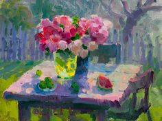Peonies Outside - Gregory Packard