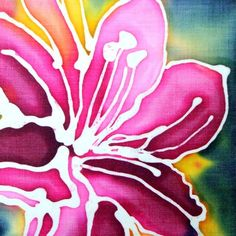 Batik - glue/wax & watercolor/ink