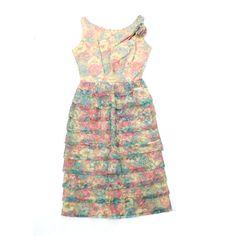 vintage 1950 s SWEET GARDEN Betty Barclay dress 63b0a4a620340