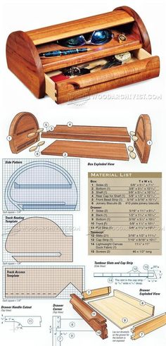 Tambour-Topped Box Plans - Woodworking Plans and Projects | WoodArchivist.com