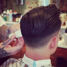 men's hairstyle. Men do your hair like this so I can stare at you. men's hairstyle. Men do your hair like this so I can stare at you. 1950s Mens Hairstyles, Cool Hairstyles, Hairstyle Men, Wedding Hairstyles, Medium Hairstyles, Formal Hairstyles, Hairstyle Ideas, Hair Dos, Your Hair