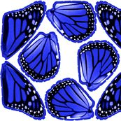 Fat Quarter Blue Monarch Butterfly Costume Wings by lovelylepidoptera, click to purchase fabric
