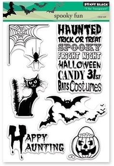 Penny Black Clear Stamps SPOOKY FUN Set 30-371