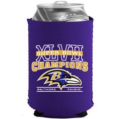 Baltimore Ravens Super Bowl XLVII Champions Collapsible Can Koozie.