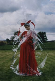 "Lisa Ratliffe wears Haute Couture Fall/Winter 1972-3. Tim Walker for ""Valentino's Red Book"", Rizzoli, 2000."