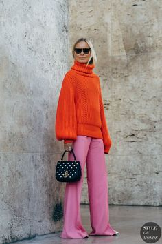 The Best Street Style Looks From Paris Fashion Week Spring 2019 - Fashionista Look Street Style, Street Style Looks, Street Style Women, Street Styles, Wide Leg Pants Street Style, Fashion Week Paris, Winter Fashion, Christmas Fashion, Paris Street Fashion