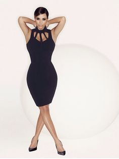 Kim's Kardashian Kollection for Sears Solo Shoot! Issue Spring 2014.    Have and love this dress and it was on sale
