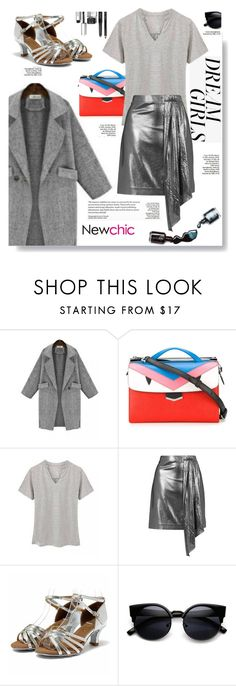 """""""NEWCHIC.COM: Dream girls"""" by hamaly ❤ liked on Polyvore featuring Fendi, Topshop, Dolce&Gabbana, Anja, Bobbi Brown Cosmetics, ootd, skirts, blouse, coats and newchic"""