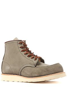 The 6-Inch Moc Boot in Sage Mohave Suede by Red Wing