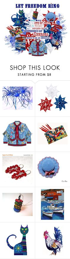 """""""LET FREEDOM RING"""" by alidishu ❤ liked on Polyvore featuring Gucci, Haan, integrityTT and SpecialT"""