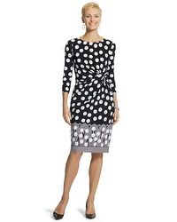 Graphic Dot Dress #chicossweeps