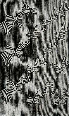 Annette Ellis Napangardi - 'Kapi tjukitji' - Outstation Gallery - Aboriginal Art from Art Centres Aboriginal Patterns, Aboriginal Symbols, Aboriginal Painting, Dot Painting, Indigenous Australian Art, Indigenous Art, Dazzle Camouflage, Collage Drawing, Fabric Art