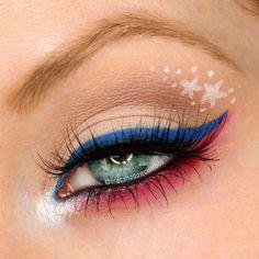 Fourth of July spirit eyeshadow!
