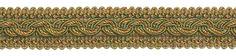 "9 Yard Value Pack - Olive Gold Baroque Collection Gimp Braid 1-1/4"" Style# 0125BG Color: GOLDEN OLIVE - 1755 (27 Ft / 8 Meters)"