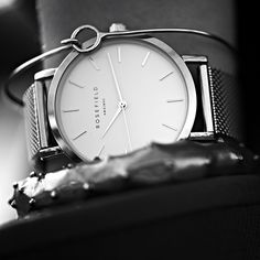 Where function meets form. Detail on our silver Mercer. #fashion #watch #inspired #amsterdam #newyork #city #classic #modern #rosefield