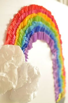 TUTORIAL - How to make a large scale rainbow with streamers and tape! Super easy and fun!