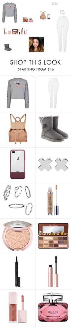 """""""Untitled #768"""" by thycravemir ❤ liked on Polyvore featuring Tommy Hilfiger, Topshop, Urban Originals, UGG, OtterBox, Witchery, Urban Decay, Too Faced Cosmetics, Giorgio Armani and Puma"""