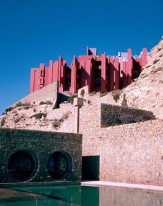 Ricardo Bofill - La Muralla Roja, at Calpe, Alicante, Spain, 1973, Pink Buildings @Coveteur