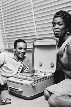 Quincy Jones and Sarah Vaughan photographed by Jean-Pierre Leloir in Paris, 1958