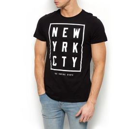 Black New York City Box T-Shirt