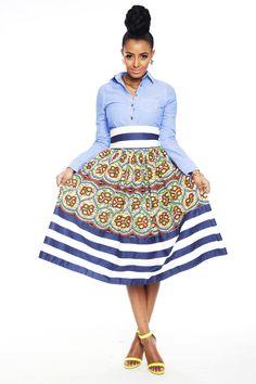 Essie Millie Striped Skirt - Kaela Kay