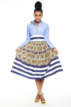 Essie Millie Striped Skirt - Kaela Kay