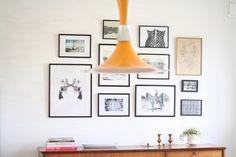 Home tour of Johanna Gartmyr. A real life Swedish home. Wall art. Portrait composition.