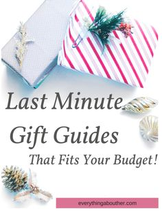Last Minute Gift Guides that fits your budget!