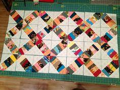 Tutorial: foundation quilt block piecing