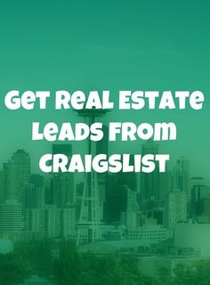Get Real Estate Leads From Craigslist: The Definitive Guide - Want more leads on a budget? Craigslist is ripe with leads and hears a guide on how to get them. Real Estate Career, Real Estate Leads, Real Estate Business, Selling Real Estate, Real Estate Tips, Real Estate Sales, Real Estate Investing, Real Estate Marketing, Lead Generation