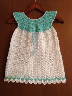 Crochet jolie robe pour fillette de 3 ans / dress for girl 3 years by BBerthe