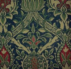 William Morris 'Granada' linen.  I bought a bunch of this on ebay and want to do panels for our living room... the print is bigger than I thought!
