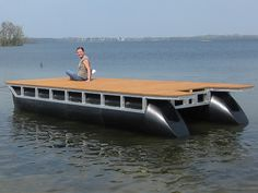 mobile pontoon boat