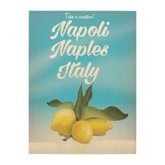 Napoli, Naples, Italy Lemons vintage travel poster