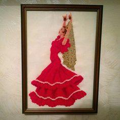 #испанка#вышивкакрестом#рукоделие