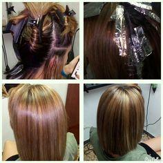 Iluminando un poco✂👌#hair #mechas #blonde