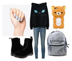 """Untitled #85"" by lolol-gg ❤ liked on Polyvore featuring Frame Denim and Dr. Martens"