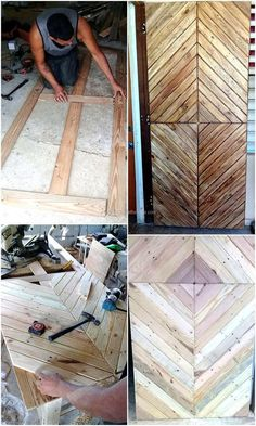 Now have a look at the reclaimed wood pallet DIY door that is easy to create and its style is different from the ones which are available in the stores because it is created by hand at home.