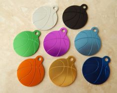 Laser Engraved Basketball Dog or Cat Pet ID Tag - Engraved Personalized Pet Tag - Sports Dog Tag - Basketball Dog Tag
