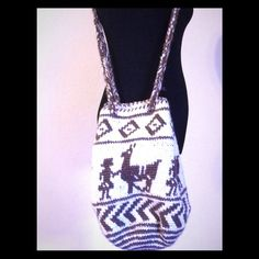 """Large Alpaca boho bag, Ethnic design,from Ecuador Large Alpaca boho bag, Ethnic design, from Ecuador, measures approx: 17."""" X 14"""" wide, I DI bundle to save you money Bags Shoulder Bags"""