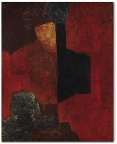 Serge Poliakoff (French-Russian, 1906-1969), Vert rouge jaune, 1964. Oil on canvas, 162 x 130 cm.